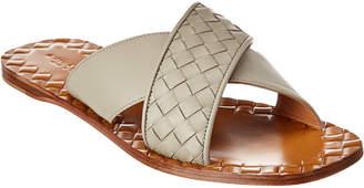 Bottega Veneta Furrow Intrecciato Leather Slide