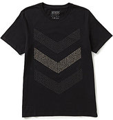 GUESS Chevron-Stripe Short-Sleeve Graphic Tee