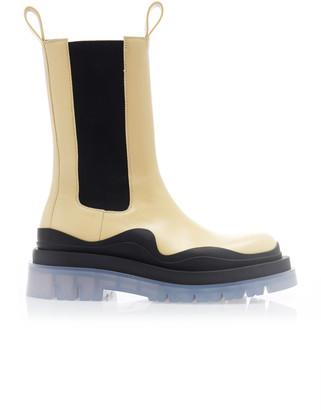 Bottega Veneta Lug Sole Leather Boots
