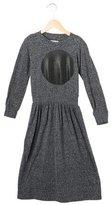 Nununu Girls' Dot Print Long Sleeve Dress