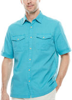 ST. JOHN'S BAY St. John's Bay Short-Sleeve Crosshatch Shirt