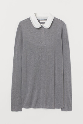 H&M MAMA Collared jumper