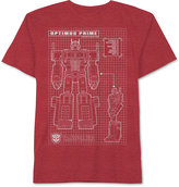 JEM Optimus Prime-Print T-Shirt, Big Boys (8-20)