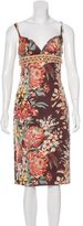 Dolce & Gabbana Embellished Floral Print Dress w/ Tags
