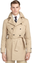 Brooks Brothers Twill Belted Trench Coat