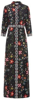 Hayley Menzies Silk Shirt Dress in Siouxsie Black - small | silk