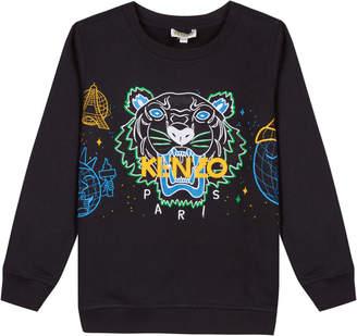 Kenzo Tiger Icon Embroidered Sweatshirt, Size 8-12