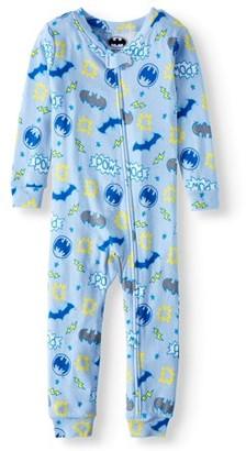Batman Baby Boys 1-Piece Cotton Sleeper Footless Pajamas (12M-24M)