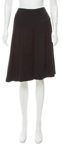 Alaia Wool Flare Skirt