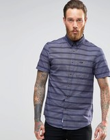 Lee Short Sleeve Stripe Shirt Buttondown