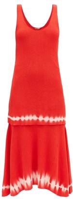 Altuzarra Shinobu Ribbed-knit Tiered Pima-cotton Midi Dress - Orange