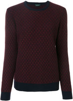 Zanone contrast colour sweater
