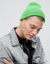 Paul Smith Lambswool Neon Beanie in Green