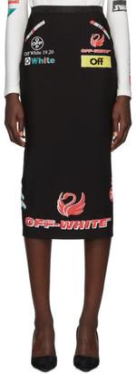 Off-White SSENSE Exclusive Black Multi-Logo Sporty Skirt