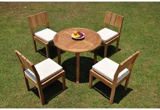 """3.1 Phillip Lim Rosecliff Heights Islais 5 Piece Teak Dining Set Rosecliff Heights Table Size H x 36"""" L x 36"""" W"""
