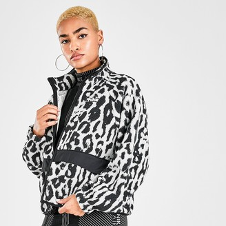 Nike Women's Sportswear Animal Print Sherpa Fleece Jacket