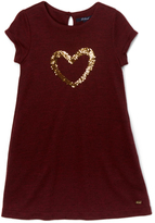 E-Land Kids Wine Heart Carrie Dress - Toddler & Girls