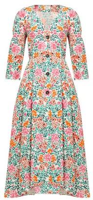 Isa Arfen Sorrento Floral-print Cotton Dress - Pink Multi