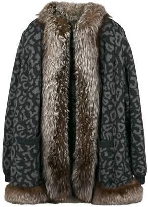 Valentino Pre-Owned leopard print fur coat