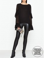Wolford Lindsey Faux Leather And Jersey Leggings