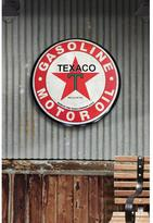 Open Road Brands 24 in. x 24 in. Texaco Hollow Curved Tin Button Sign