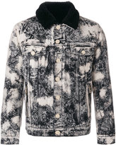 Balmain marble-printed denim jacket - men - Cotton/Wool - S