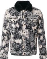 Balmain marble-printed denim jacket - men - Cotton/Wool - S
