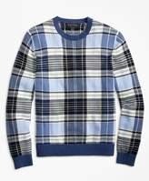 Brooks Brothers Supima Cotton Plaid Crewneck Sweater