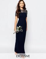 Maya Chiffon Maxi Dress with Embellishment