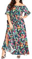 City Chic Jungle Jam Maxi Dress