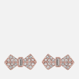 Ted Baker Women's Sersi Solitaire Pave Bow Earrings