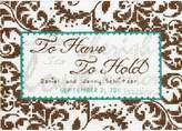 """Dimensions Treasured Words Wedding Record Counted Cross Stitch Kit - 7"""" x 5"""" 14 Count"""