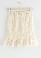 Thumbnail for your product : And other stories Fitted Smocked Skirt