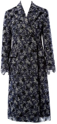 Calvin Klein Blue Cotton Coat for Women