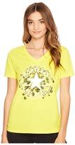 Converse Daisy Chuck Patch V-Neck Short Sleeve Tee Women's T Shirt