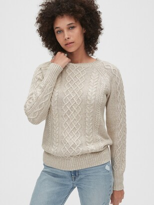 Gap Cable-Knit Crewneck Sweater