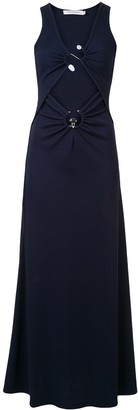 CHRISTOPHER ESBER Orbit ruched maxi dress