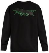 Off-White Mirror-print cotton-jersey sweatshirt