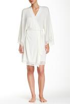 Eberjey Golden Girl Lace Trim Kimono Robe