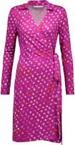 Diane von Furstenberg New Jeanne Two printed silk-jersey wrap dress