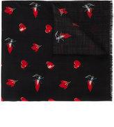 Saint Laurent No Smoking printed scarf - men - Wool - One Size