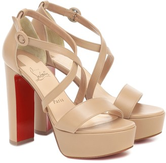 Christian Louboutin Loubi Bee Alta 130 leather platform sandals