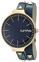 RumbaTime Orchard Double Wrap Midnight Blue Analog Display Japanese Quartz Watch