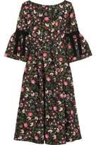 Erdem Aleena Grosgrain-Trimmed Matelassé Dress