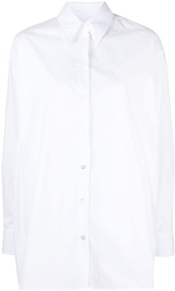 MM6 MAISON MARGIELA Pointed Collar Buttoned Shirt