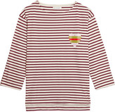 Chinti and Parker Striped Organic Cotton-jersey Top - Red
