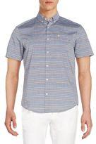 Original Penguin Slim-Fit Mini Rainbow Striped Sportshirt