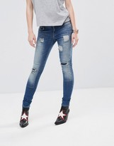 Noisy May Eve LW Ripped Ankle Zip Jeans 32''