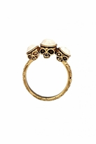 House Of Harlow Triple Skull Ring with Metal Stones