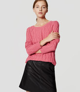 LOFT Cable Tunic Sweater